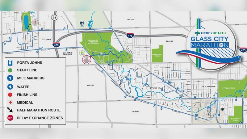 The 2021 Mercy Health Glass City Marathon