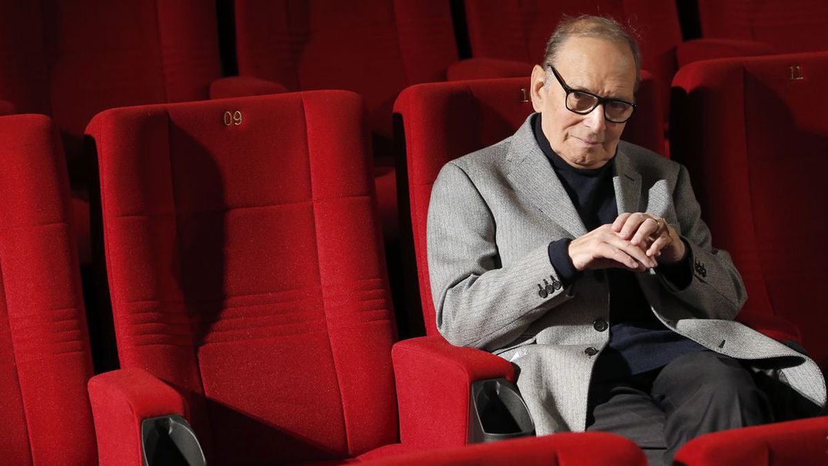 In this Dec. 6, 2013, file photo, Italian composer Ennio Morricone poses during a photo call to promote his German 2014 concerts, in Berlin, Germany. (Source: AP Photo/Michael Sohn, file)