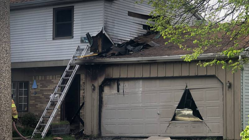 A fire Sunday at a home on Hazelton Dr. in  Oregon idspse