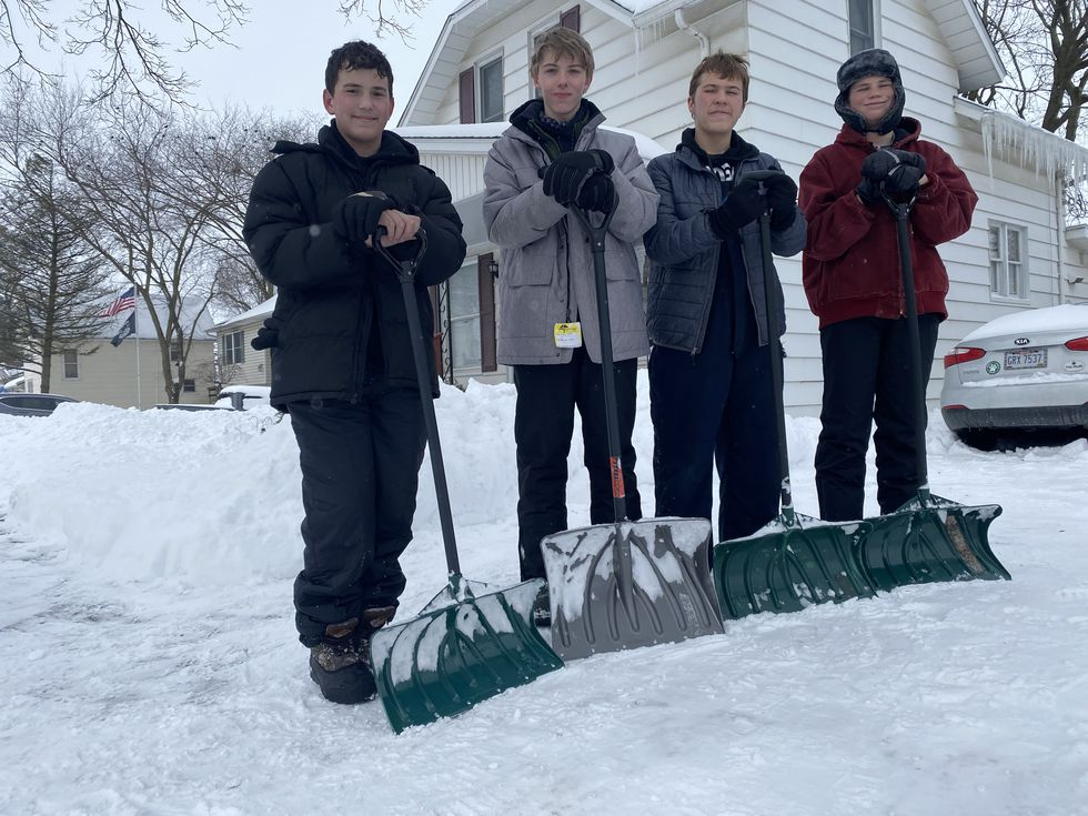 Since this winters first snowfall Zachary Bower, Hunter St. John, Conner Sintobin, and James...