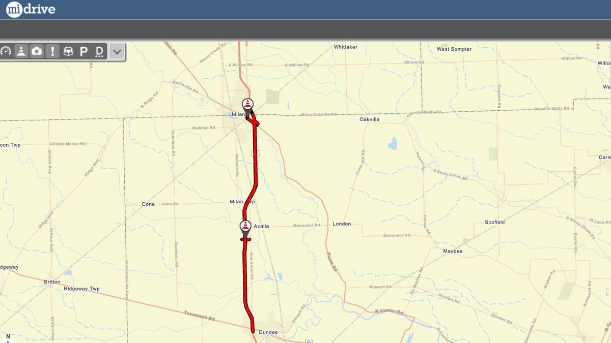 US 23 will be closed in Michigan for repairs to a railroad bridge.