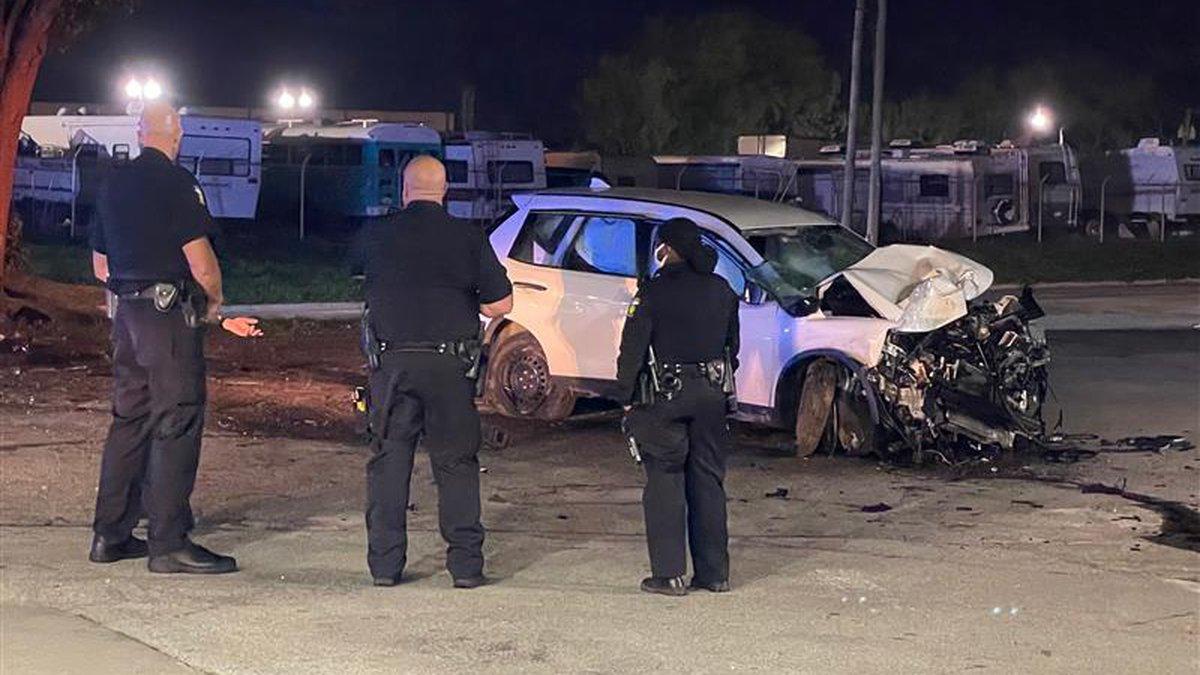 One man hospitalized following overnight crash in Toledo.