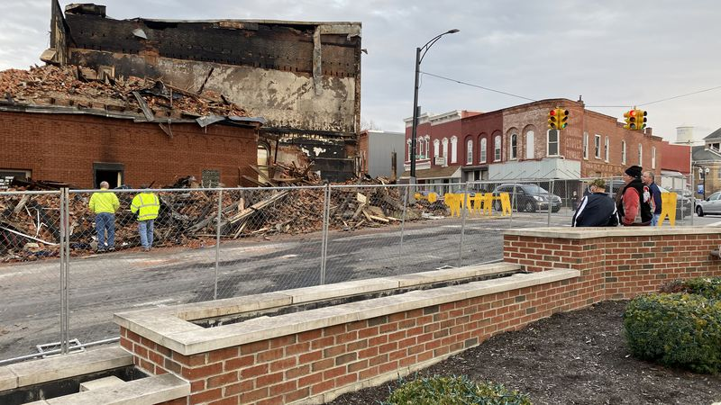 Nearly 150 years of history burned down Friday night, destroying four businesses inside.