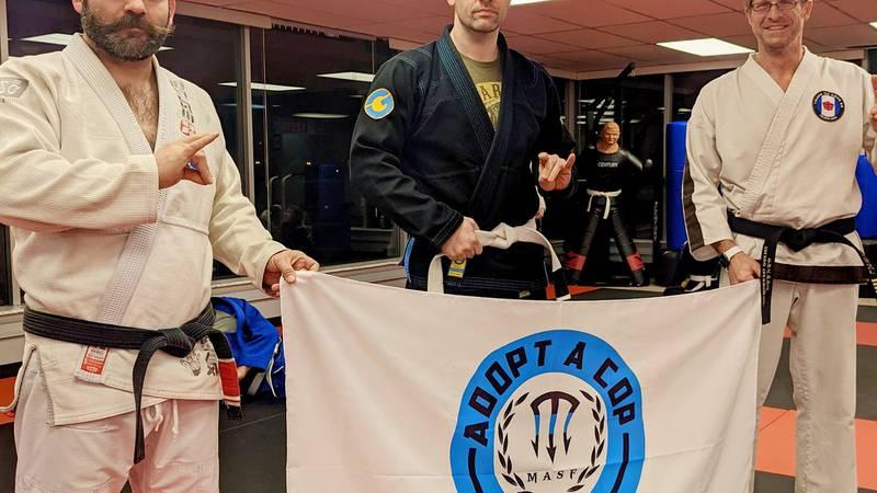 Rudo Jiu-Jitsu Taekwondo studio is strengthening the bodies and minds of men and women in blue...