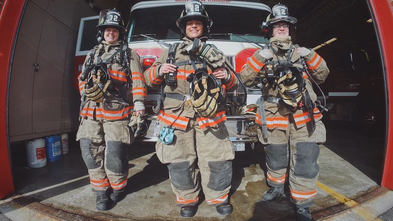All Female Engine Crew makes history for the Washington Township Fire Department