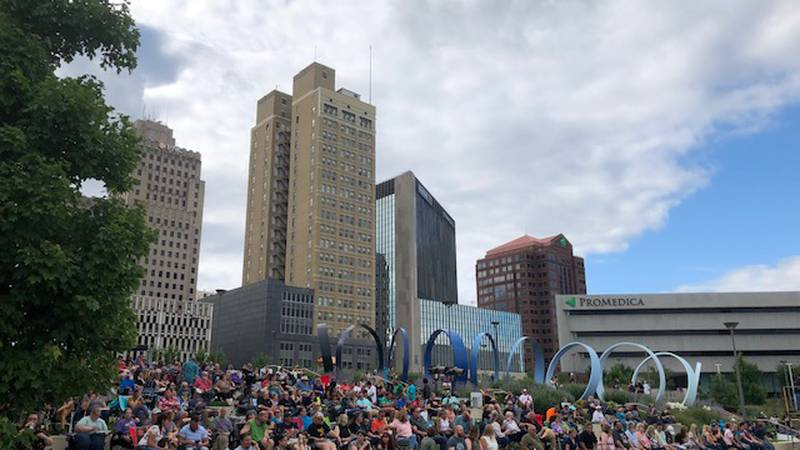 The event drew thousands to downtown
