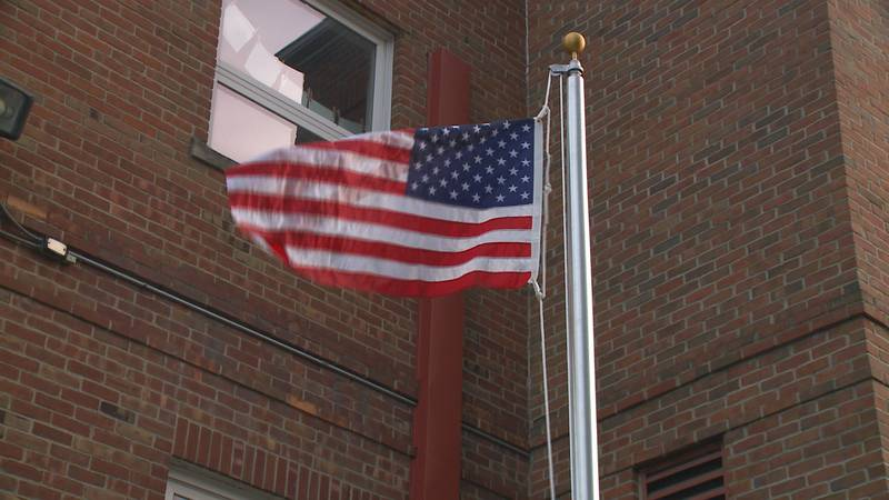 Bruno Teodorovic completed his final project to become an eagle scout by installing a flag pole...