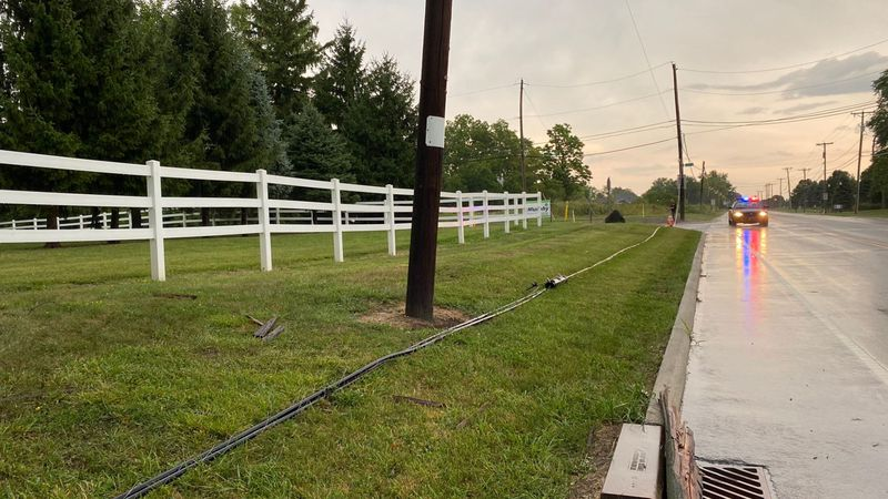 Storm damage in Monclova Twp. on August 12, 2020.