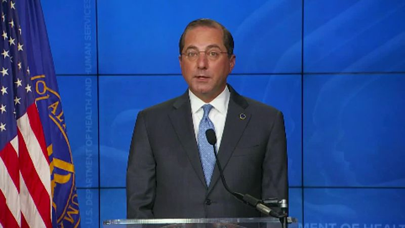 """HHS Sec. Alex Azar: """"We project having enough for every American who wants a vaccine by March..."""
