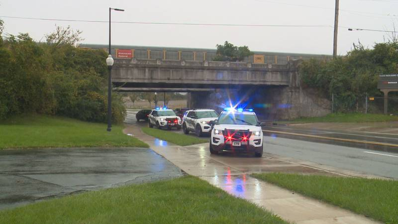 One person was hurt Sunday when a stationary train they were playing on started to move.