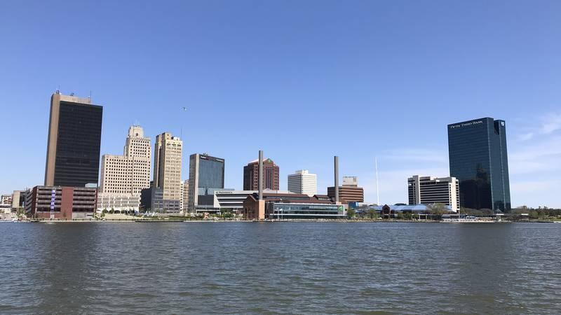 Skyline of Toledo, Ohio.