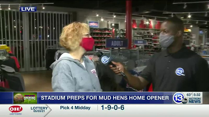 Fifth Third Field preps for opening day