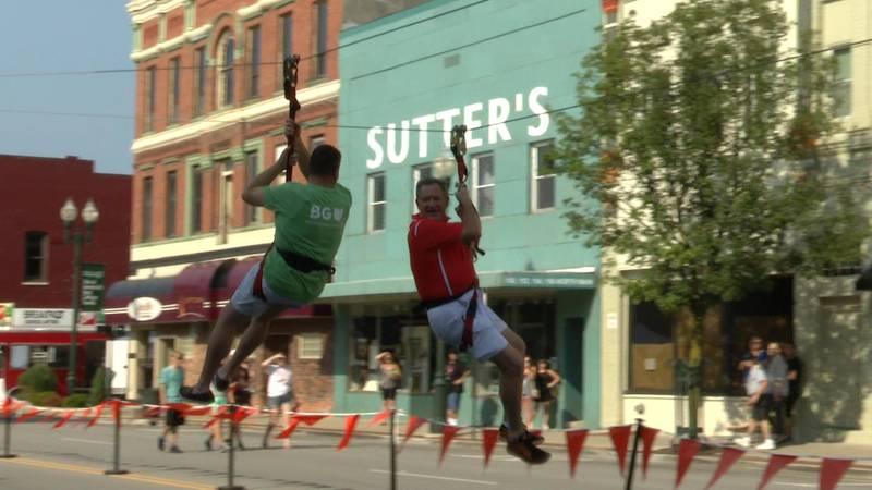The two men organized the first BG Rally on Main festival to foster a sense of community...