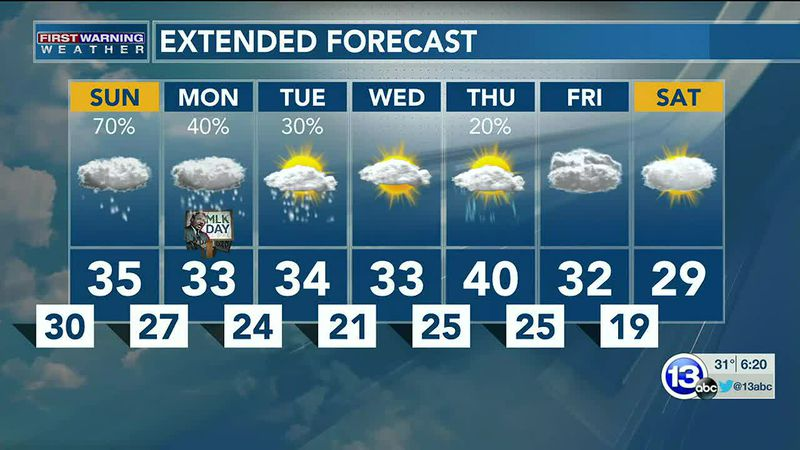 1/16: Dan's Saturday Evening Forecast