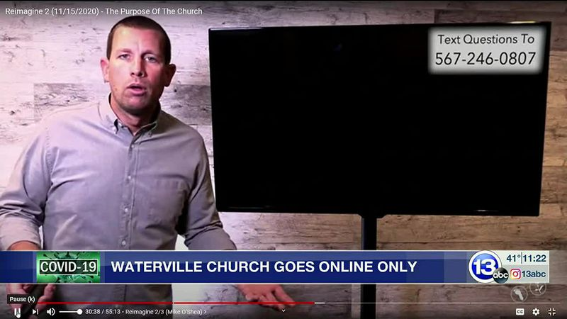 Waterville Community Church switches services to online only.