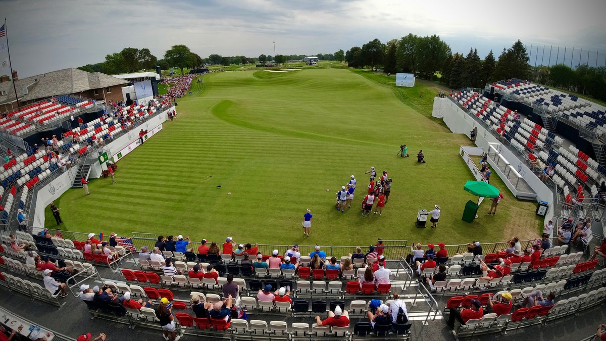 Toledo takes center stage for international golf on Solheim Cup day one
