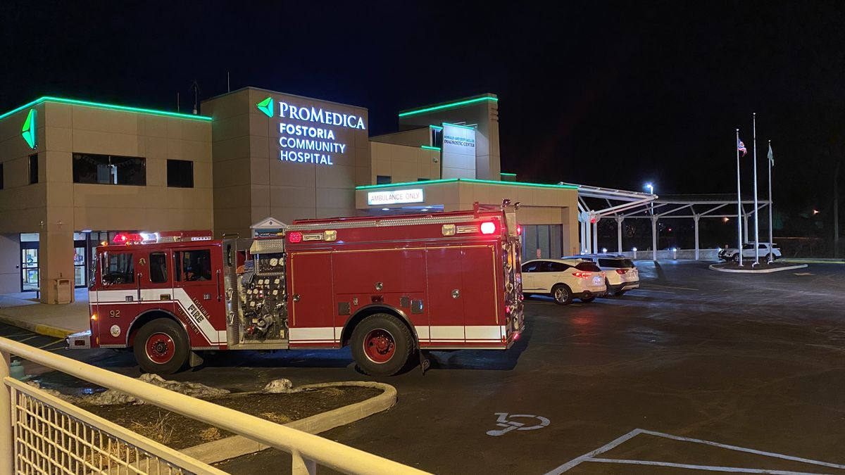 Crews responded to a report of an odor of natural gas at ProMedica Fostoria Community Hospital...