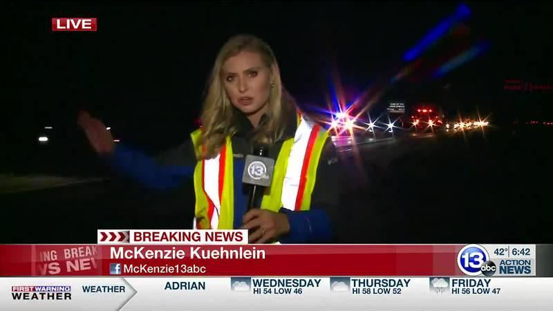 Crash blocks traffic on US 23 near state border