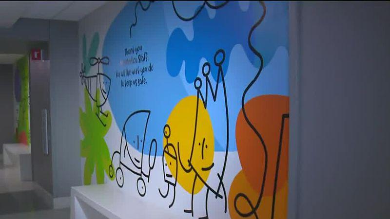 Mural honors pandemic workers at ProMedica Toledo Hospital