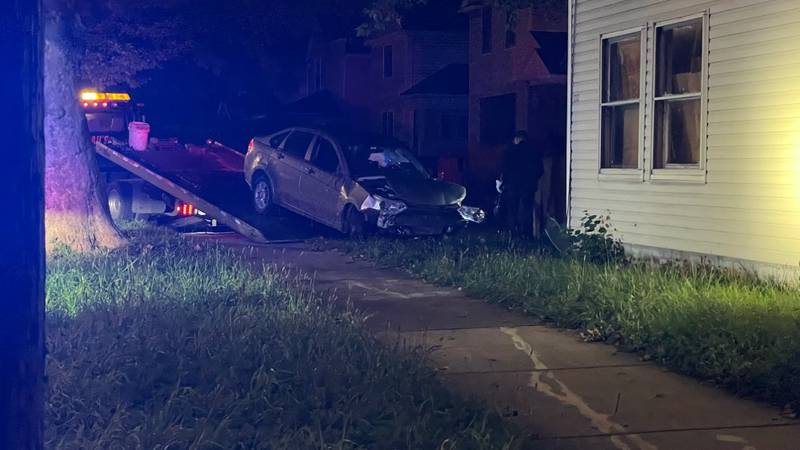 A crashed into a home on South Avenue in Toledo.