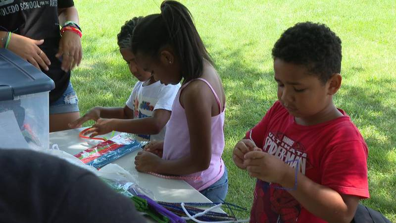 Local kids take part in an events put on by the Toledo School of Arts