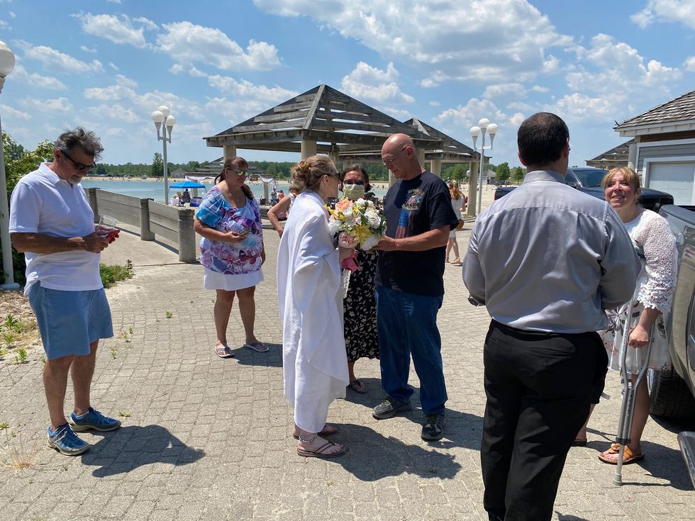 The nuptials took place at Maumee Bay State Park