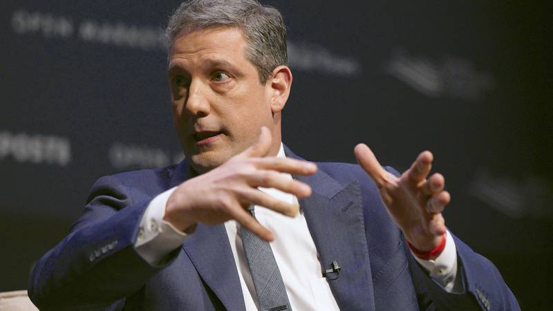 Rep. Tim Ryan, D-Ohio, speaks at the Heartland Forum held on the campus of Buena Vista...