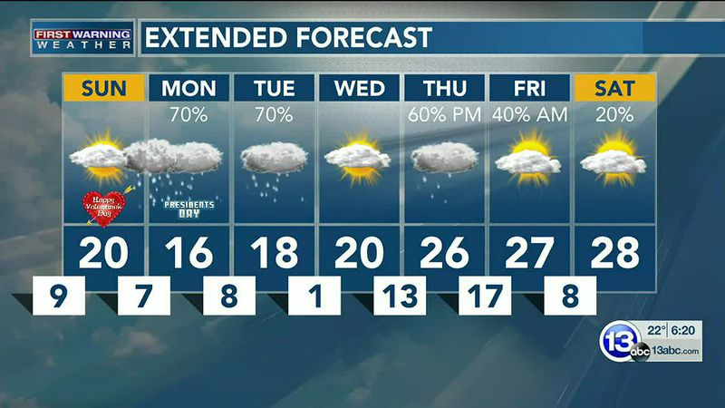 """4-6"""" of snow possible early Monday through Tuesday morning, with higher amounts southeast! Dan..."""
