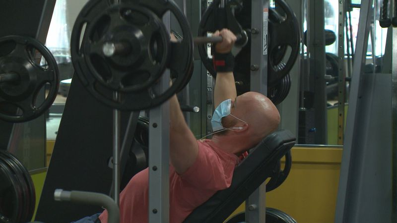 After being closed for 177 days, gyms and fitness centers in Michigan were allowed to reopen...