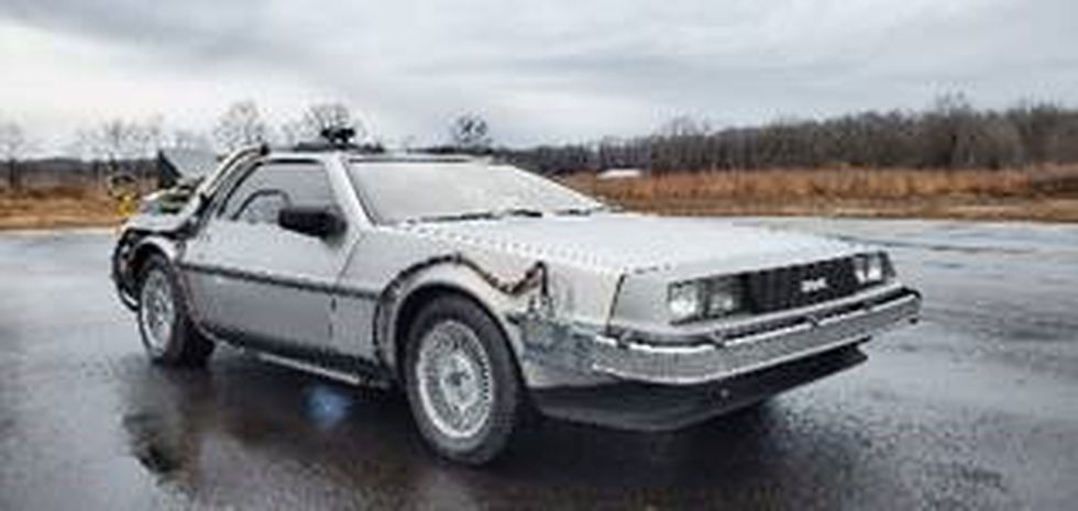 """A replica of the vehicle from """"Back to the Future"""" will be sold at an Ohio auction on Aug. 1. (Photo courtesy of US Marshals)"""