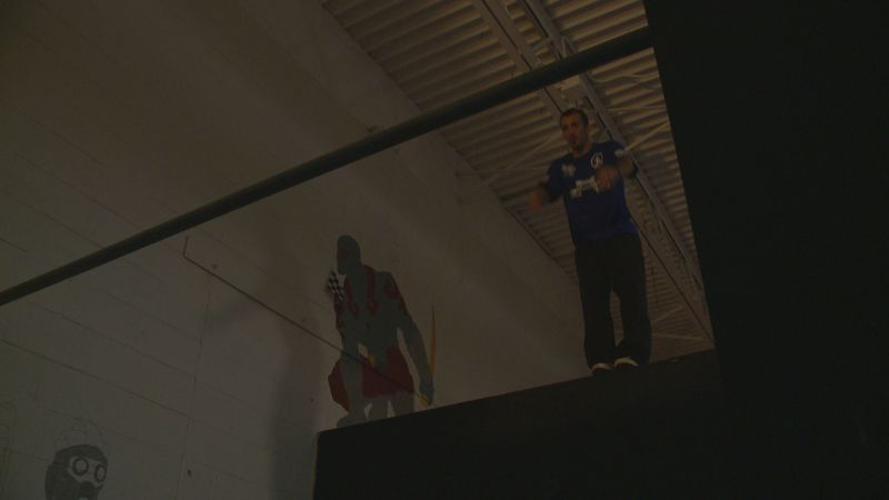 Michael Dario's parkour skills landed him a spot in the World Chase Tag event.